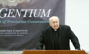 Fr. Roch Kereszty, O.Cist., delivered the keynote address of the conference.